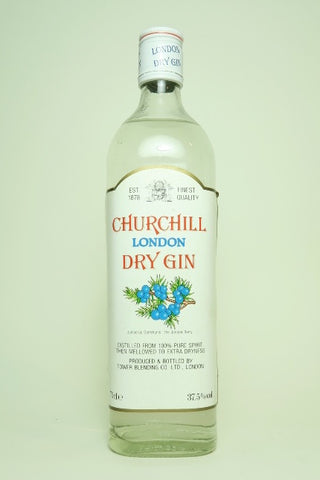 Tower Blending Co. Ltd.'s Churchill London Dry Gin - 1990s (37.5%, 70cl)
