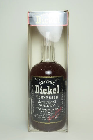 George Dickel Tennessee Sour Mash Whisky - 1980s (40%, 75cl)