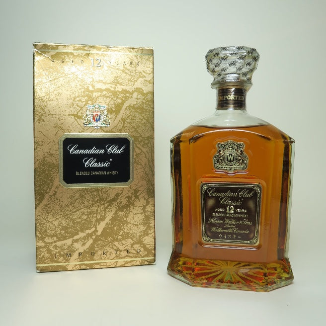 Canadian Club Classic 12YO Blended Canadian Whisky - 1980s (40%, 75cl)