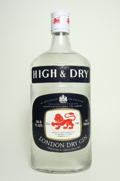 Booth's High & Dry London Dry Gin - 1970s (40%, 75cl)