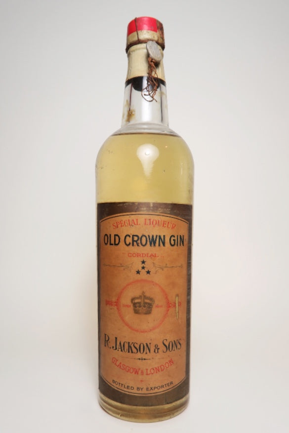 R Jackson Sons Old Crown Gin Special Liqueur Cordial 1933 44