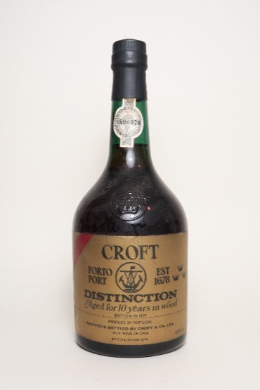 Croft 10YO Distinction Port - 1970s (ABV Not Stated, 75cl)