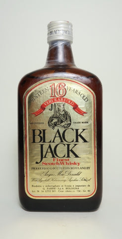 Angus MacDonald Black Jack 16YO Finest Blended Scotch Whisky -1970s (40%, 75cl)