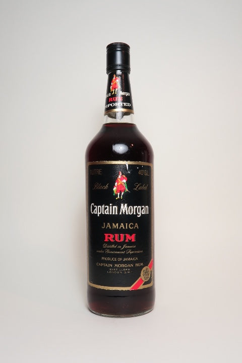 Captain Morgan Black Label Jamaica Rum - 1980s (40%, 100cl)
