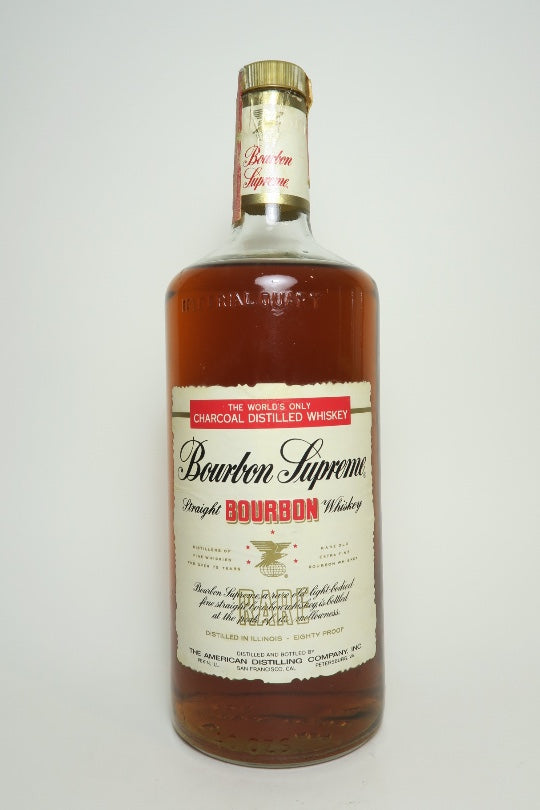 American Distilling Co. Bourbon Supreme Straight Bourbon Whiskey - Bottled 1978 (40%, 113.6cl)