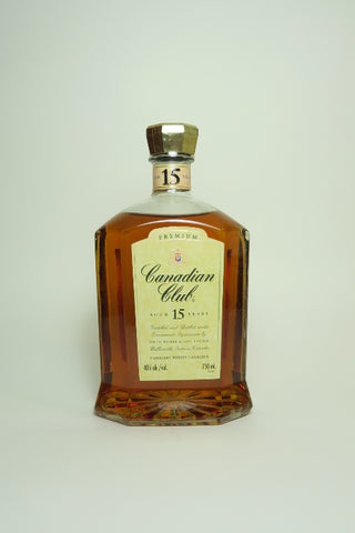 Canadian Club 15YO Blended Canadian Whisky - 1980s (40%, 75cl)