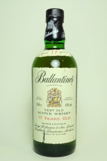 Ballantine's 17YO Very Old Scotch Blended Whisky for the Japanese Market - 1990s (43%, 75cl)