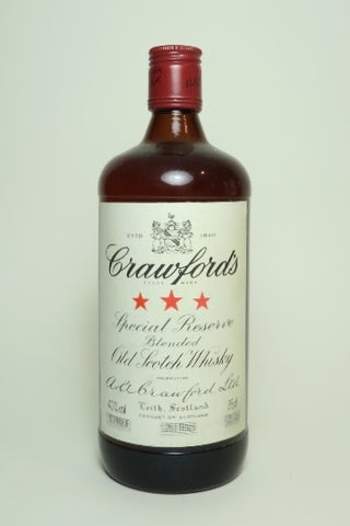 A. A. Crawford's 3* Special Reserve Blended Scotch Whisky - 1980s (40%, 75cl)