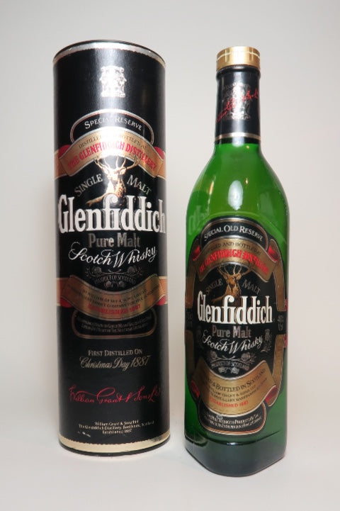 Glenfiddich Special Old Reserve Pure Malt Scotch Whisky - 1990s (40%, 70cl)