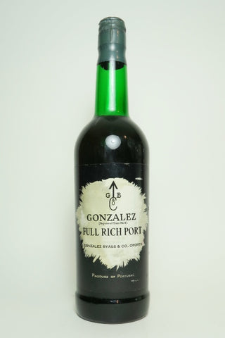 Gonzalez Byass & Co. Gonzalez Full Rich Port - 1960s (ABV Not Stated, 75cl)