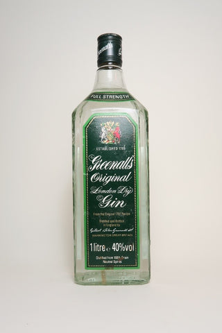 Greenall's Original London Dry Gin - 1980s (40%, 100cl)
