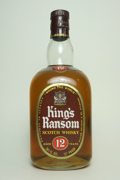 William Whiteley's King's Ransom 12YO Blended Scotch Whisky - 1960s (43%, 75cl)