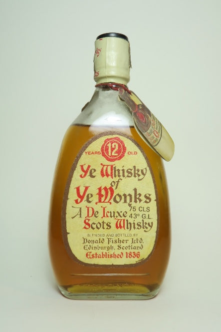 Donald Fisher Ye Whisky of Ye Monks 12YO Blended Scotch Whisky - 1970s (43%, 75cl)