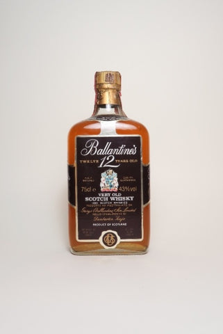 Ballantine's 12YO Very Old Blended Scotch Whisky - 1970s (43%, 75cl)