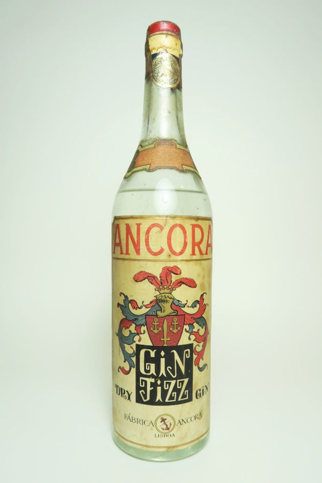 Ancora Gin Fizz Dry Gin - 1950s (ABV Not Stated, 70cl)