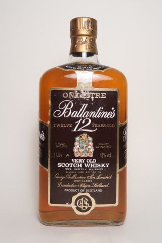 Ballantine's 12YO Blended Scotch Whisky - 1970s (43%, 100cl)