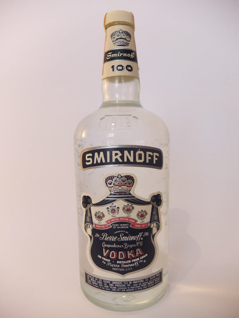 Smirnoff Blue Label Vodka - 1970s (50%, 113.6cl)