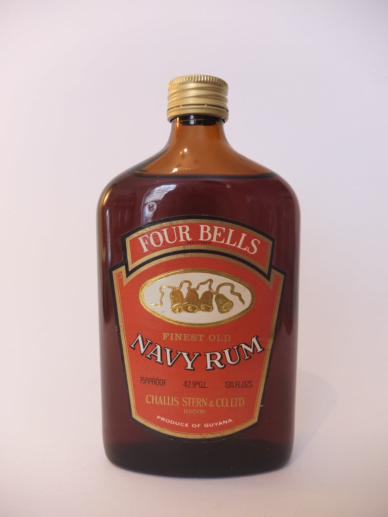 Four Bells Finest Old Navy Rum - 1970s (42.9%, 37.5cl)