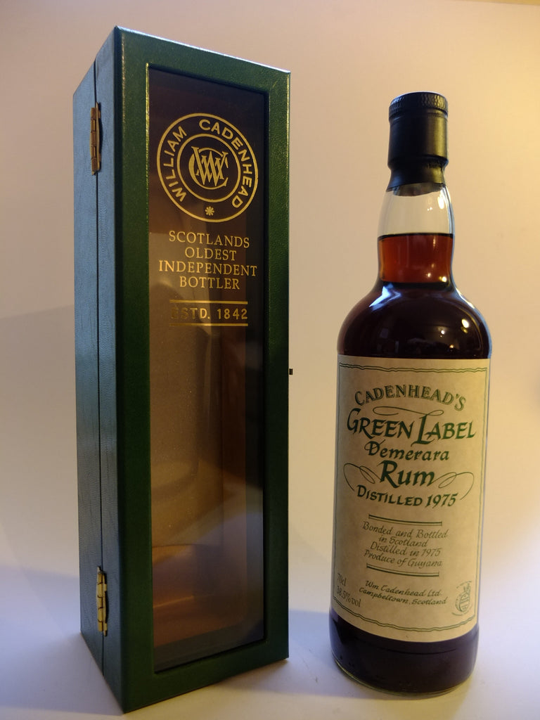 Cadenhead's Green Label Demerara Rum - Distilled 1975 (38.5%, 70cl)