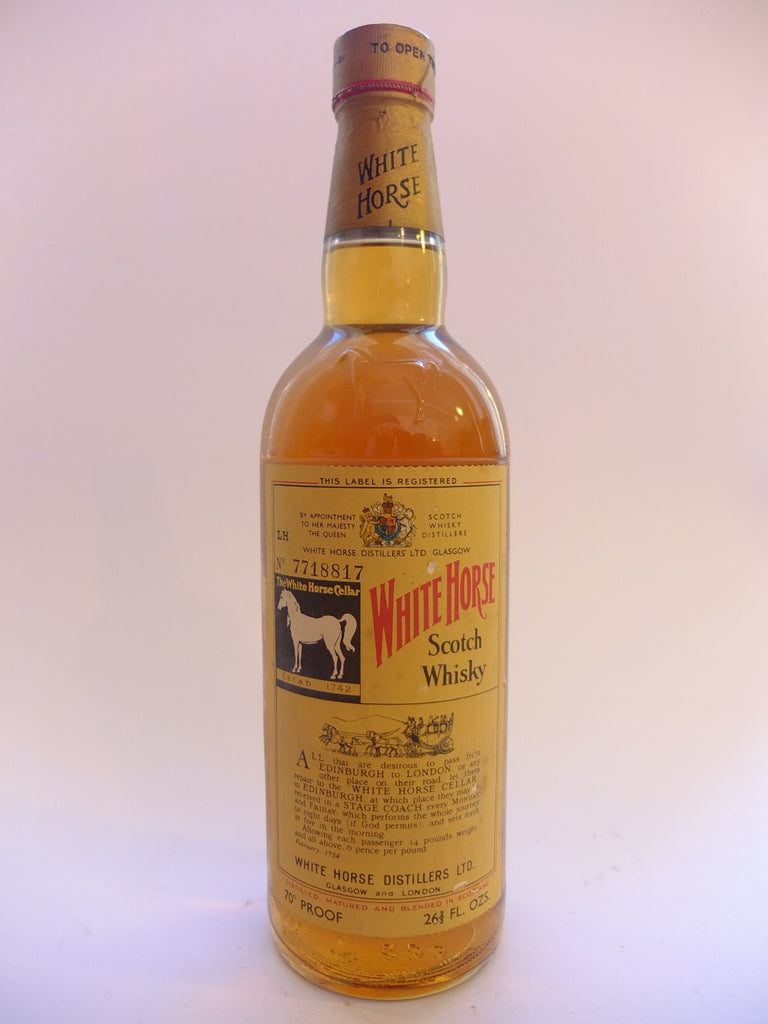 White Horse Scotch Whisky - 1960s?? (40%, 75cl)