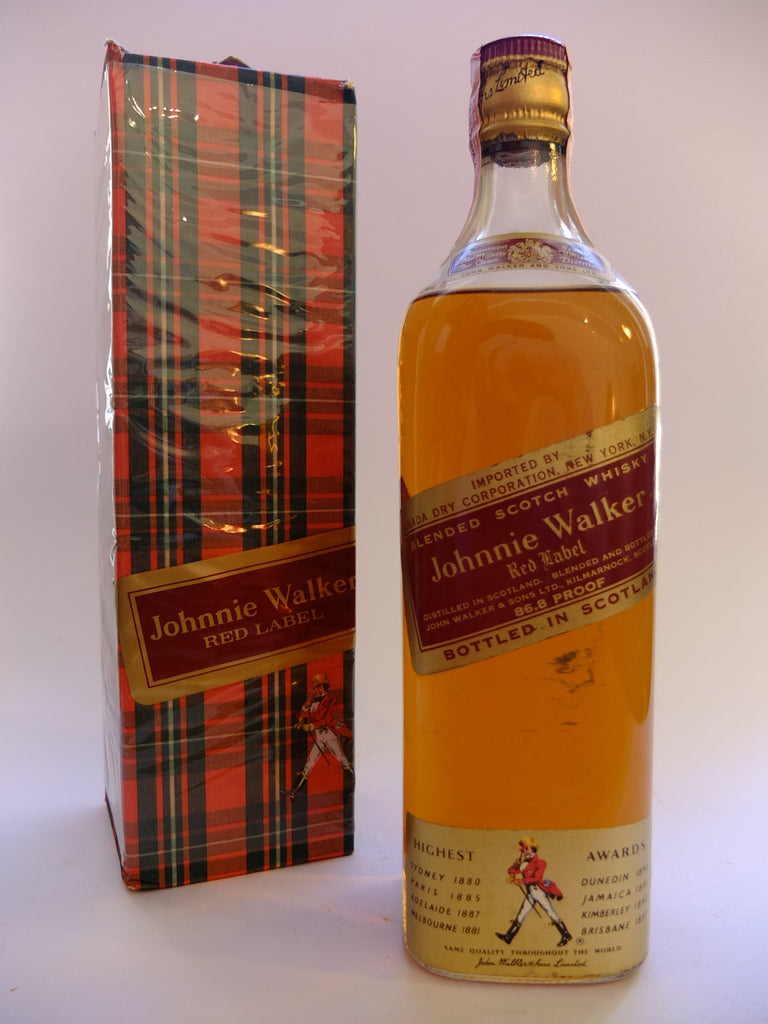 Johnnie Walker Red Label Blended Scotch Whisky - 1950s (43.4%, 75.7cl)