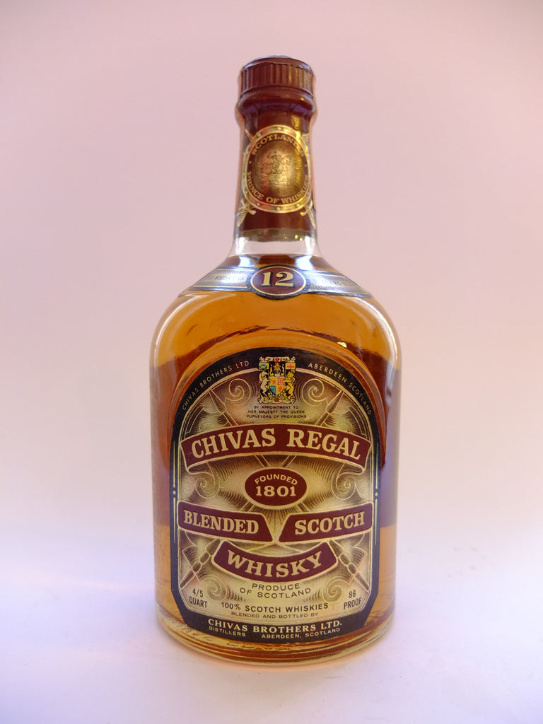 Chivas Regal 12 Year Old Blanded Scotch Whisky - 1960s (43%, 75.7cl)