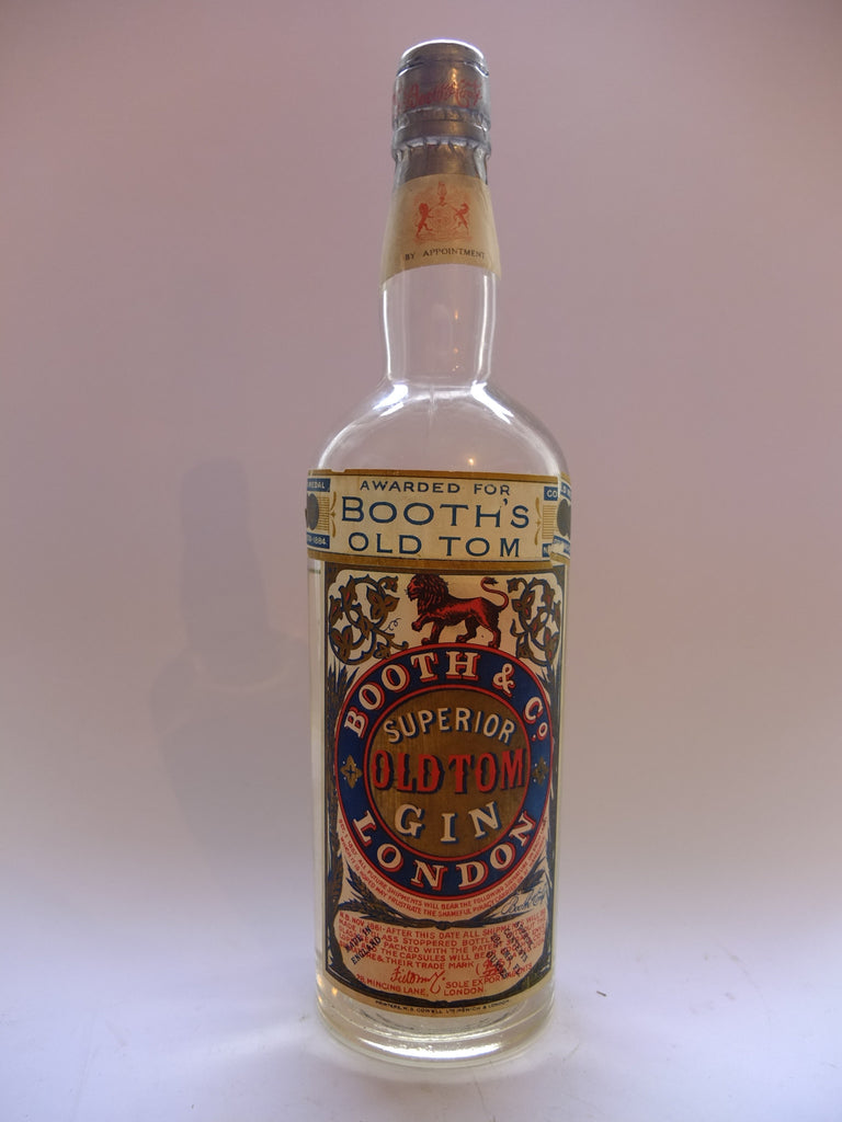 Booths & Co, Superior Old Tom Gin - 1920s (43% 75cl)