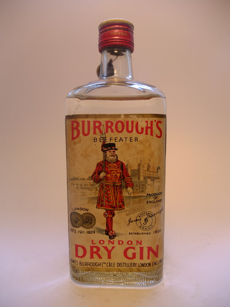 Burrough's Beefeater London Dry Gin - 1949-1959 (44%, 75cl)