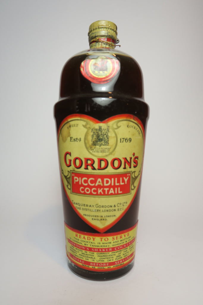 Gordon's Piccadilly Shaker Cocktail - 26% (1936-52, 75cl)