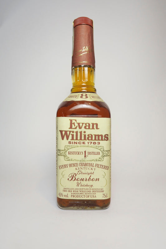 Evan Williams 8YO Kentucky Straight Bourbon Whiskey - Distilled 1983 / Bottled 1991 (43%, 75cl)