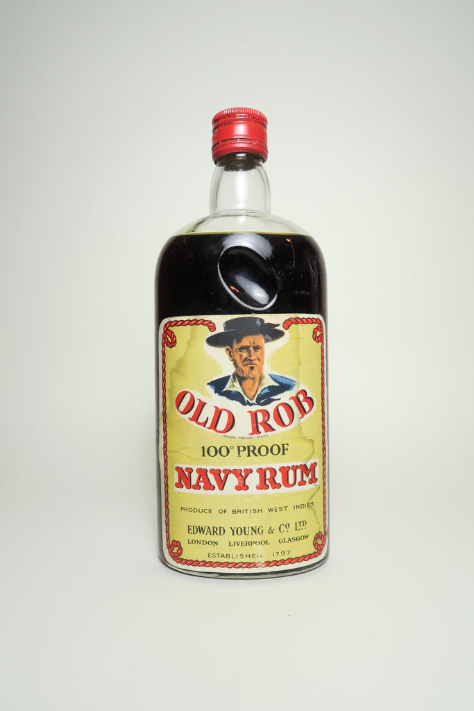Edward Young's Old Rob Navy Rum - 1960s (50%, 75cl)