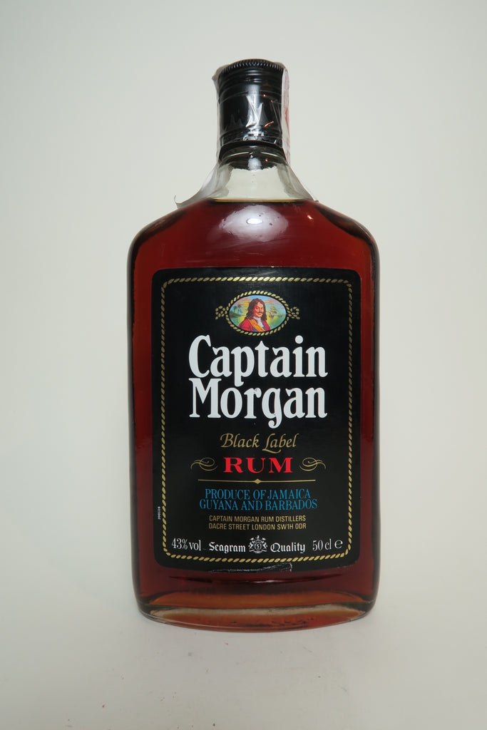 Captain Morgan Black Label Rum - 1970s (43%,	 50cl)