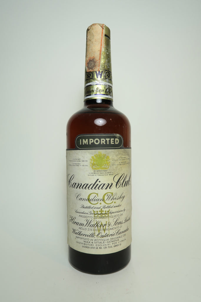 Canadian Club Blended Canadian Whisky - Distilled 1966	(43%, 75cl)