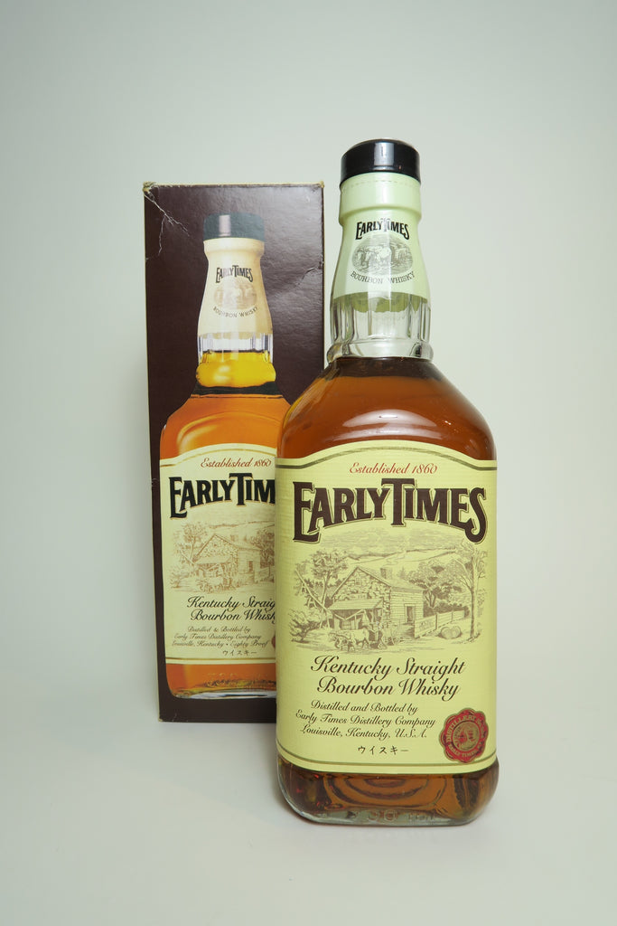 Early Times Kentucky Straight Bourbon Whisky - Late 1990s (40%,	70cl)