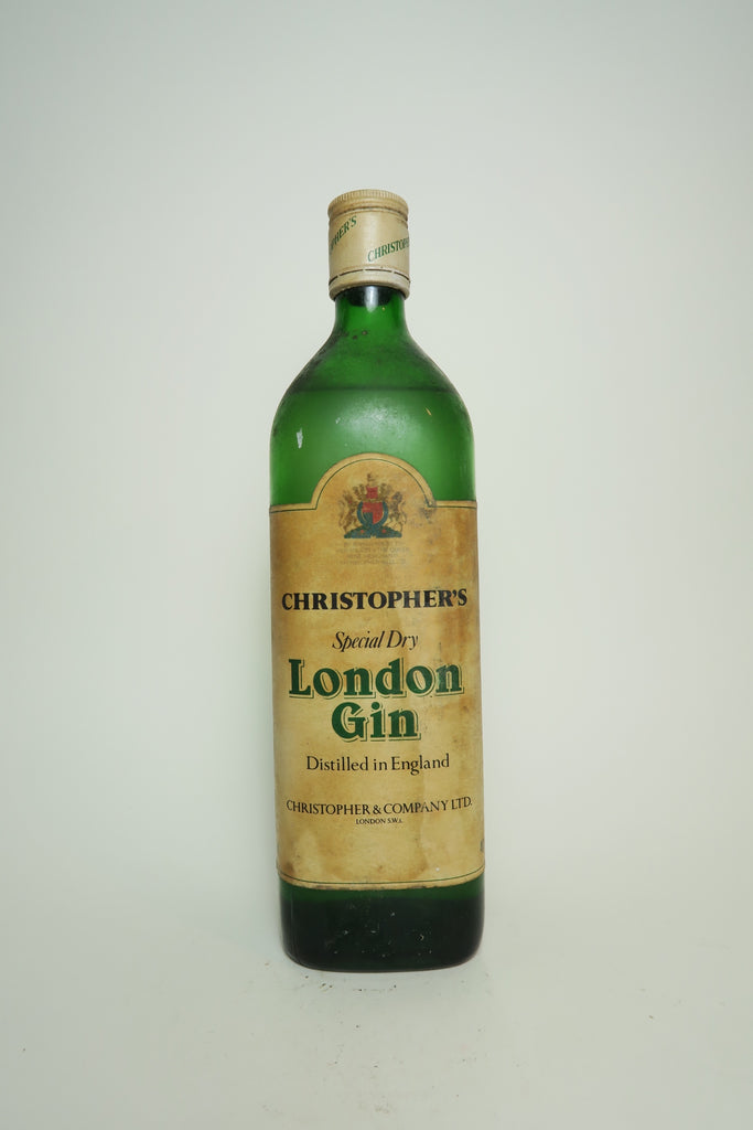 Christopher & Co. Christopher's Special Dry London Gin - 1970s (40%, 75cl)