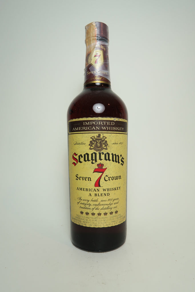 Seagrams 7 Crown Blended American Whiskey - Post-1957 / Pre-1964 (43%, 75.7cl)