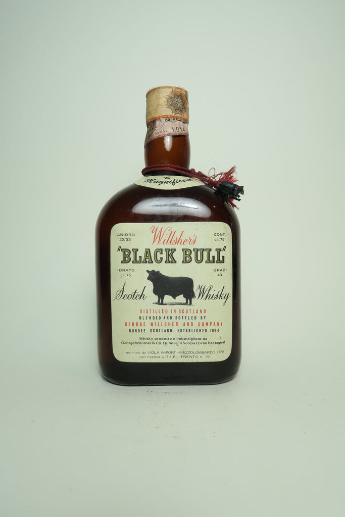 George Wilsher's Black Bull Blended Scotch Whisky - 1970s (43%, 75cl)