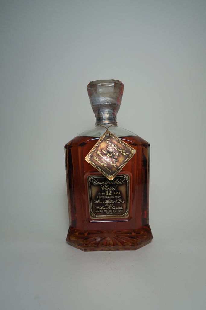 Canadian Club 12YO Classic Blended Canadian Whisky - Distilled 1970s / Bottled 1980s (40%, 75cl)