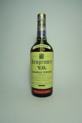 Seagram's V.O. 6YO Blended Canadian Whisky - late 1950s/early 1960s	(probably 43.4%, 75.7cl)