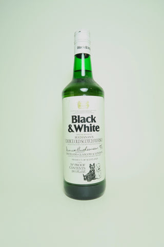 Buchanan's Black & White Blended Scotch Whisky - 1970s (40%, 75cl)