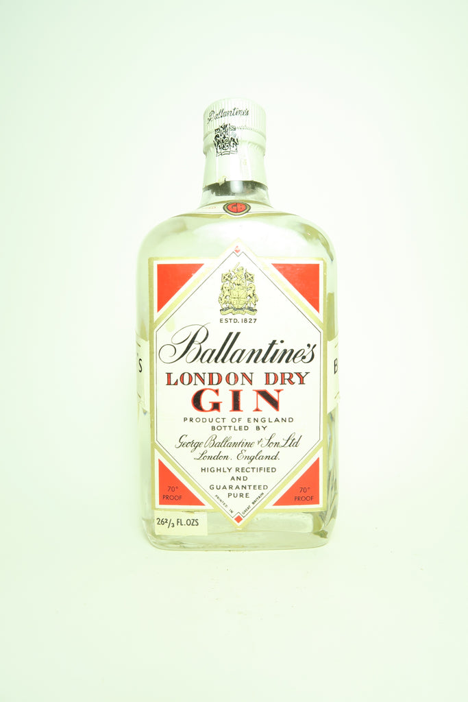 Ballantine's London Dry Gin - 1960s (40%, 75cl)