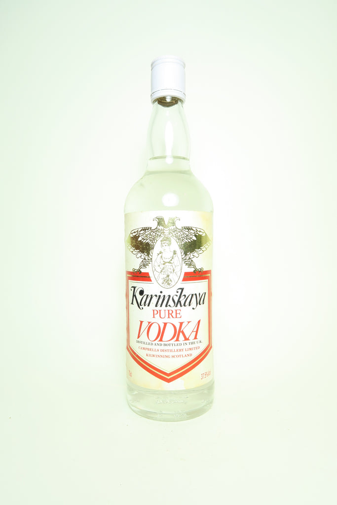 Campbells Distillery Karinskaya Pure Vodka - 1980s (37.5%, 70cl)