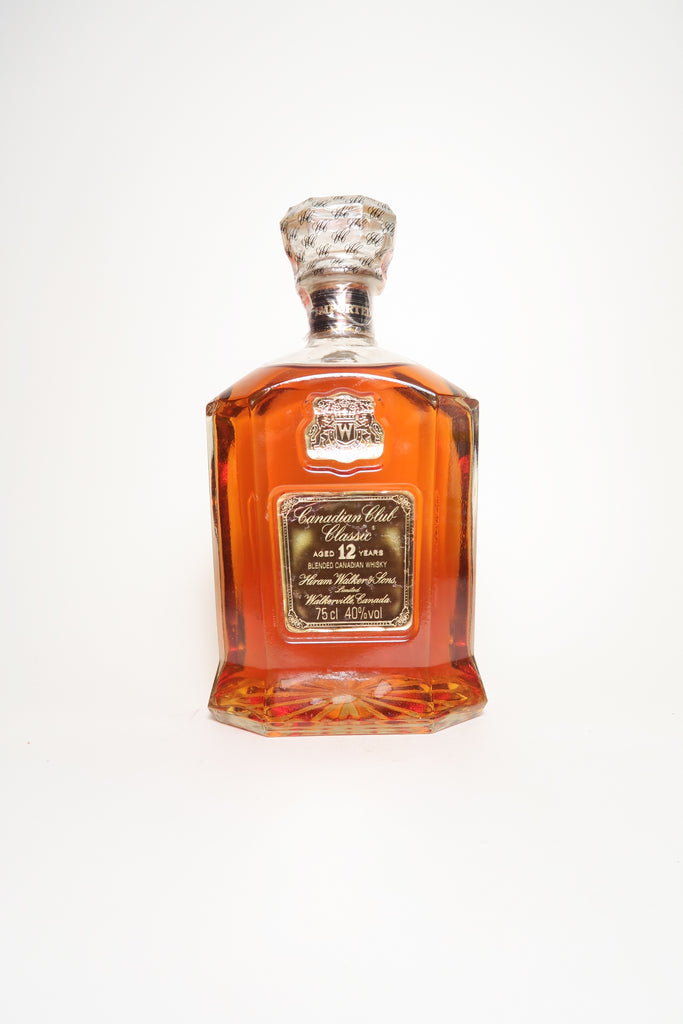 Canadian Club Classic 12YO Blended Canadian Whisky - Distilled 1970s / Bottled 1980s (40%, 75cl)