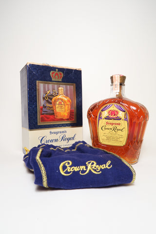 Seagram's Crown Royal Fine de Luxe Blended Canadian Whisky - Distilled 1970 (40%, 75cl)