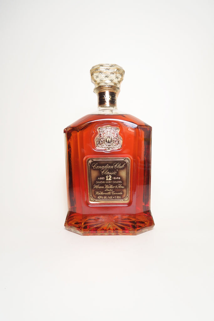 Canadian Club Classic 12YO Blended Canadian Whisky - Distilled 1977 / Bottled 1989 (40%, 100cl)