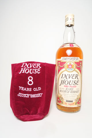 Inver House 8YO Red Plaid Rare Blended Scotch Whisky - 1970s (43%, 100cl)
