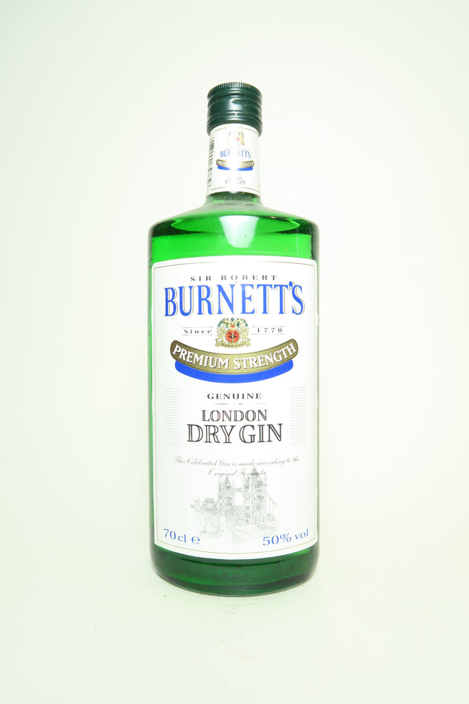 Sir Robert Burnett's Premium Strength London Dry Gin - 1980s (50%, 70cl)