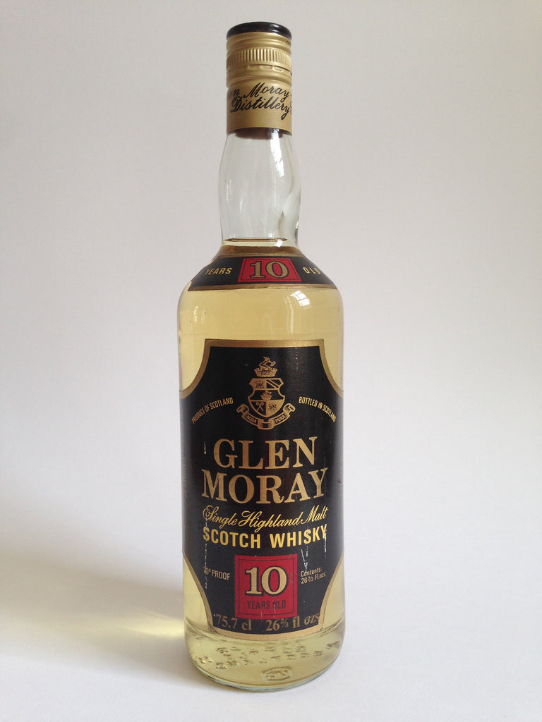 Glen Moray 10 Year Old Black Label Single Highland Malt Scotch Whisky - 1970s (40%, 75cl)