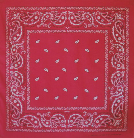 Pillarbox Red Paisley Bandana