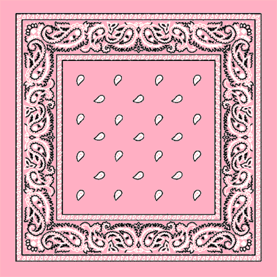 Light Pink Paisley Bandana
